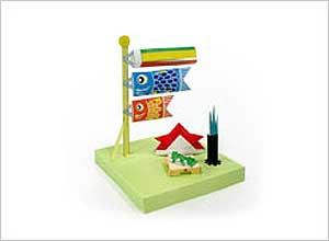 折り紙 折り紙 鯉のぼり : 簡単手作り!無料型紙で折り紙 ...