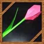 折り紙のチューリップに葉っぱの簡単な折り方!花束になる立体的な作り方