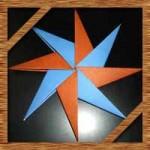 折り紙の八方手裏剣の簡単な折り方!8枚を重ねた作り方を紹介