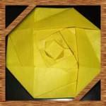 折り紙のバラの平面の折り方!カード作りに最適な簡単な作り方