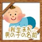 秋生まれの男の子!赤ちゃんの名前にかっこいい古風な漢字!
