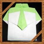 折り紙ワイシャツの簡単な折り方!父の日カードにネクタイ付きの作り方