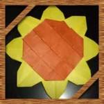 折り紙のひまわりの簡単な折り方!父の日手作りカードに最適な作り方