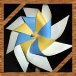 こいのぼりに折り紙で回る8枚羽風車の折り方!ストローで簡単な作り方