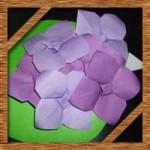 折り紙の紫陽花(あじさい)に葉っぱの折り方!簡単な立体の作り方