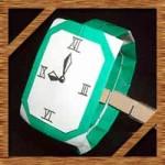 折り紙の腕時計の簡単な折り方!父の日や誕生日プレゼントにも