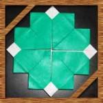 折り紙の四つ葉のクローバーの折り方!一枚での簡単な作り方!