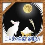 三月見の十五夜・十三夜・十日夜の意味由来に違い!何月何日でいつ?