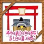 神社の鳥居の色の意味!赤と白の違いは何?