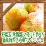 野菜玉(常備菜)の使い方作り方!簡単時短の活用アレンジレシピ