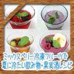 ミックスベリー冷凍フルーツで!夏に冷たい飲み物スムージー果実酒レシピ