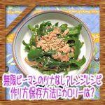 無限ピーマンのツナなし代用アレンジレシピ!作り方保存方法にカロリーは?